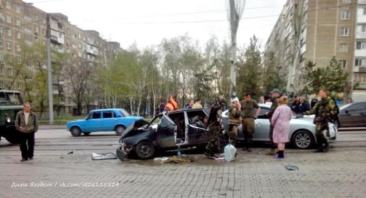 Боевики устроили аварию в центре Донецка (фото)