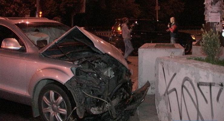 В Киеве столкнулись внедорожники Lexus и Audi Q7