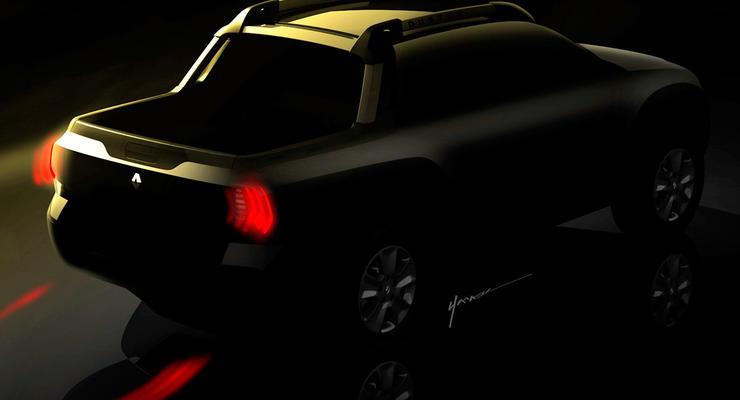 Компания Renault показала первые фото пикапа Duster