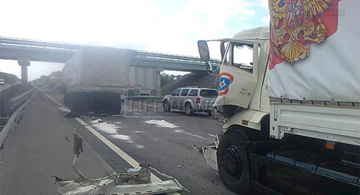 Грузовик российского гумконвоя устроил аварию, есть раненые