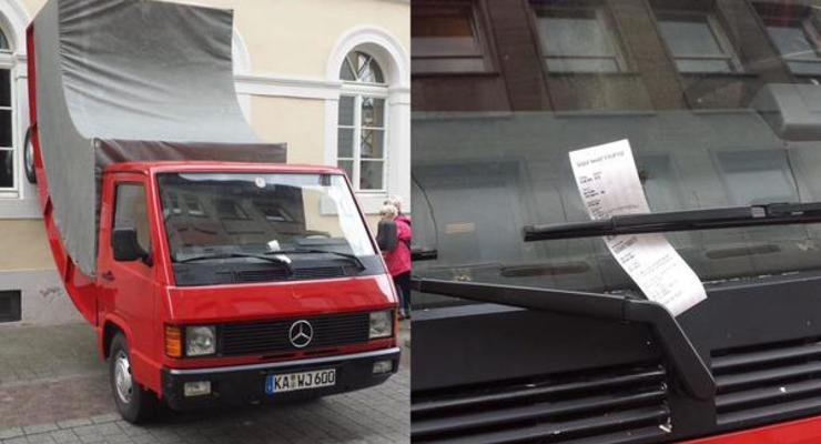 В Германии скульптуре выписали штраф за неправильную парковку