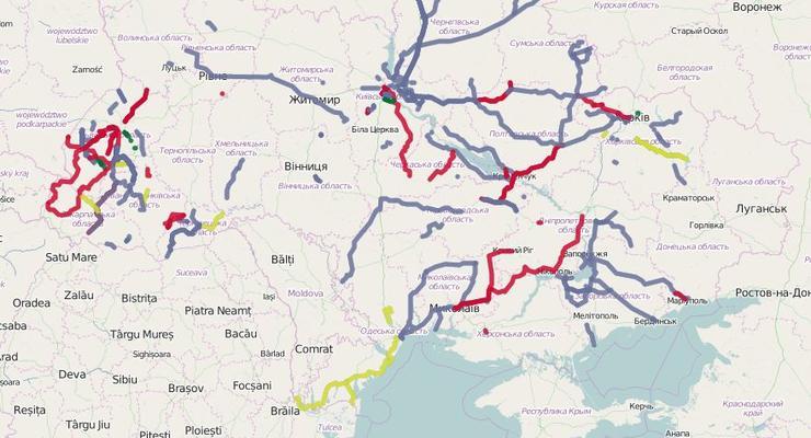 В Украине создали интерактивную карту ремонта автодорог