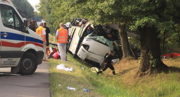 В Польше разбился автобус с украинскими номерами, есть жертвы