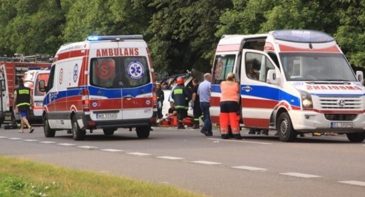 Опубликовано видео с места смертельного ДТП украинского автобуса в Польше