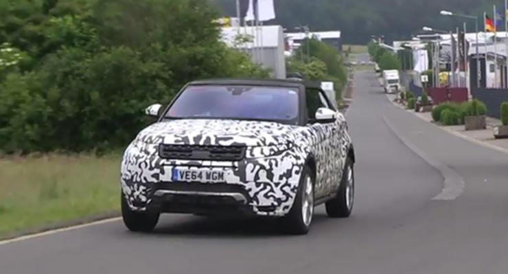 Range Rover вывел кабриолет Evoque на Нюрбургринг (видео)