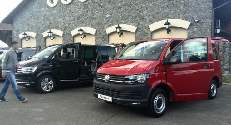 В Украине презентовали Volkswagen Transporter T6 и Caddy 4
