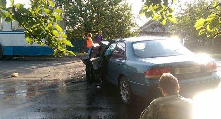 На Луганщине глава райсовета попал в аварию (фото)