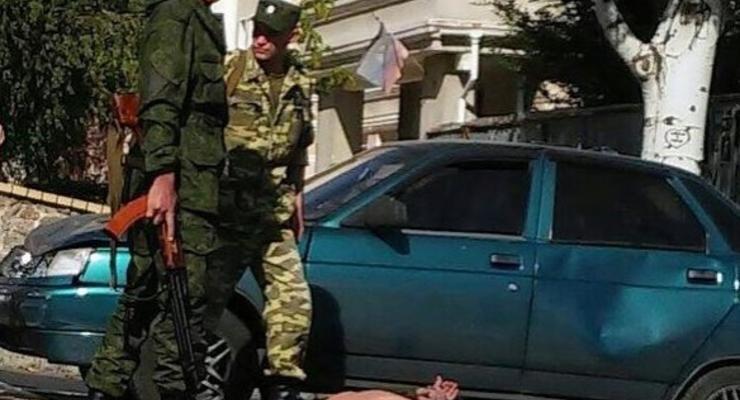 В центре Донецка боевики устроили разборки после ДТП