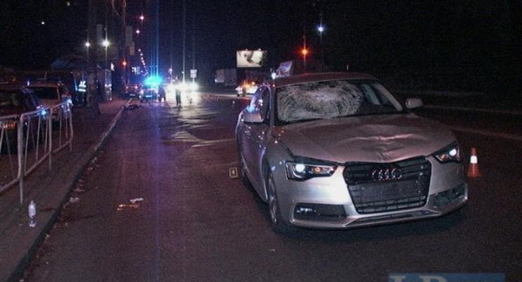 В Киеве Audi насмерть сбил пешехода-нарушителя (фото)