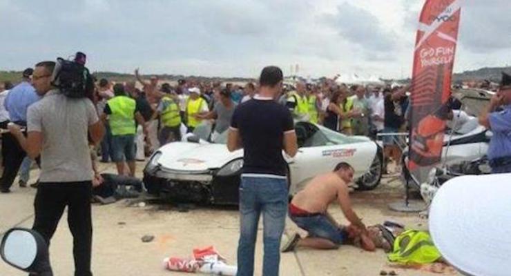 На мальтийском автошоу Porsche сбил двадцать шесть человек (видео)