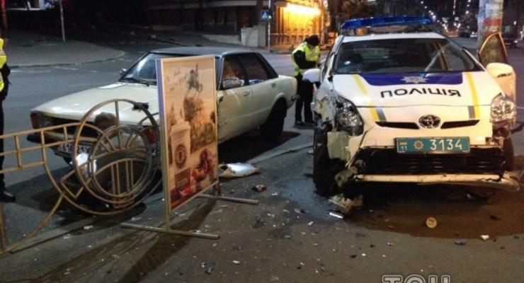 В Киеве полицейские попали в ДТП