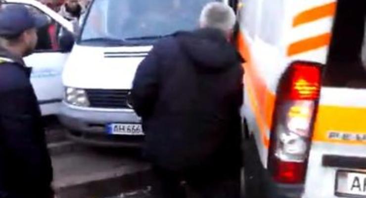 В центре Донецка скорая попала в аварию (видео)