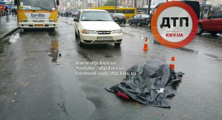 В Киеве Daewoo насмерть сбил пешехода-нарушителя