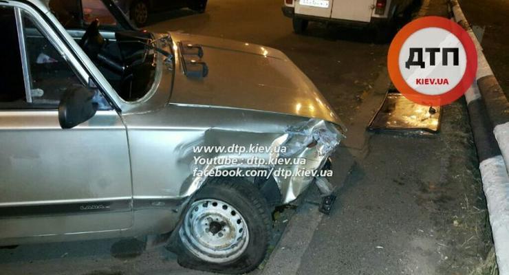 В Киеве на Оболони пьяный водитель ВАЗ врезался в Hyundai, пострадал ребенок