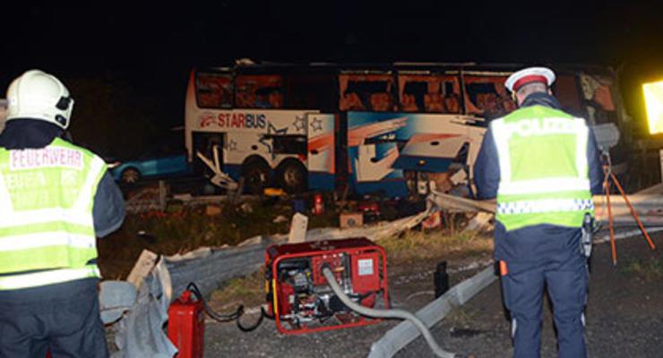 Под Веной украинский автобус попал в ДТП, не менее 10 человек пострадали