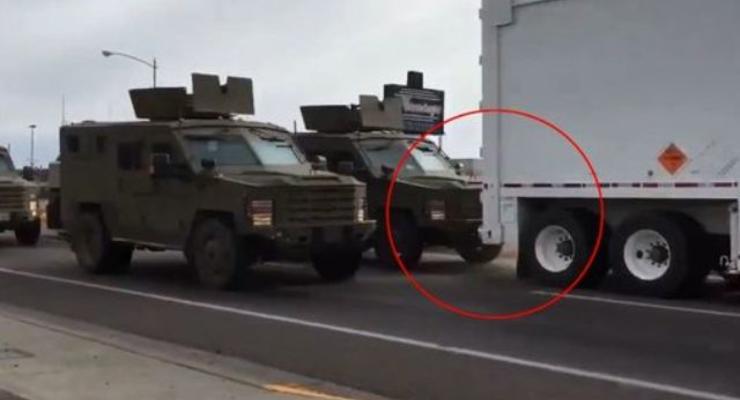 В США броневик врезался в фуру с ядерной боеголовкой (видео)