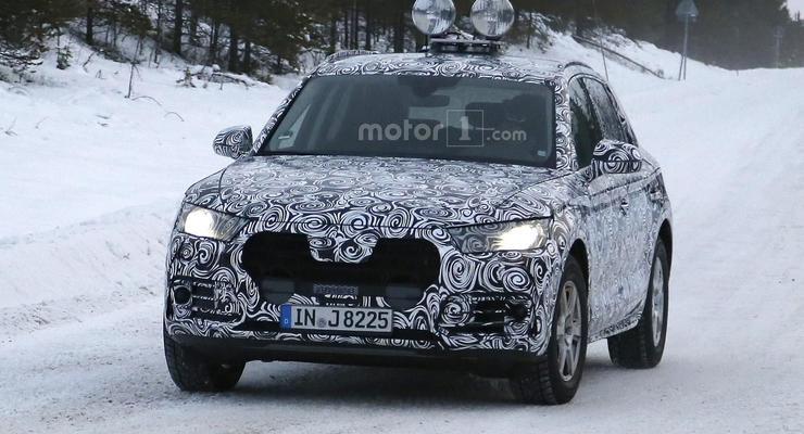 Компания Audi вывела кроссовер Q5 на зимние тесты (фото)