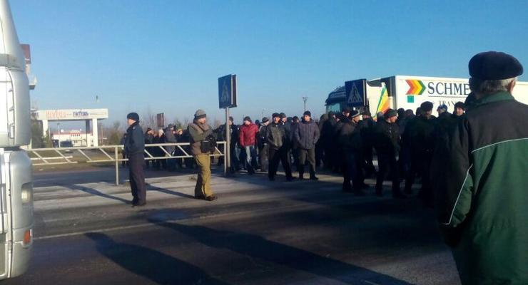 Шахтеры перекрыли трассу Киев - Варшава