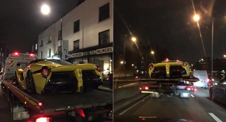 В Лондоне разбили редкую Ferrari LaFerrari (видео)