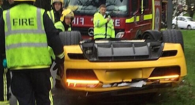 В Великобритании на тест-драйве разбили Audi R8