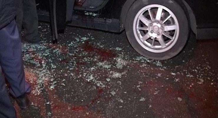 В Киеве расстреляли такси, один человек погиб