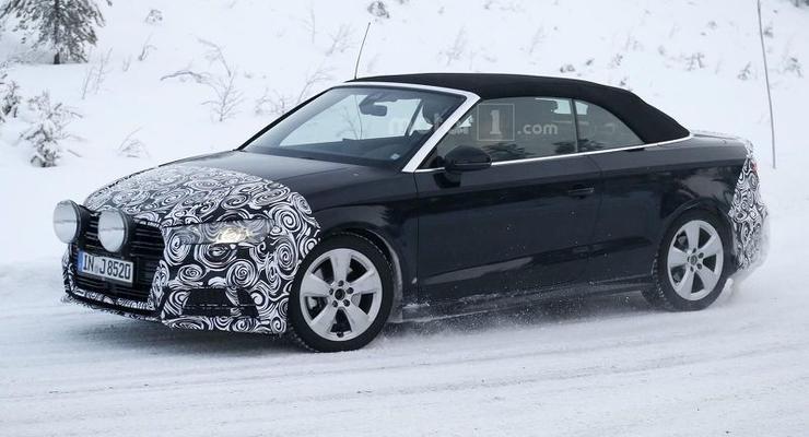 Audi вывела на зимние тесты кабриолет A3 (фото)