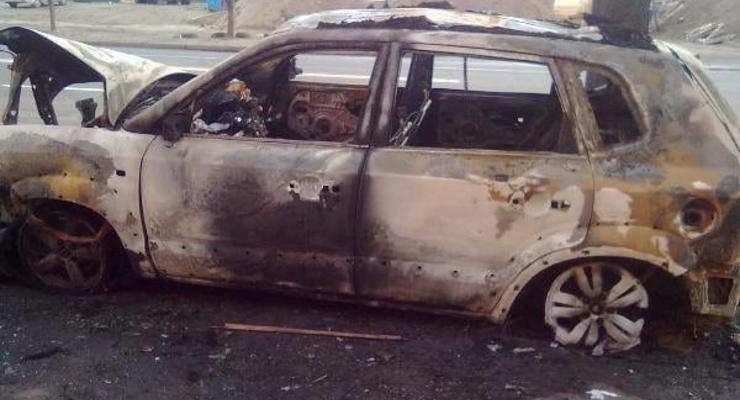 В Киеве ночью сожгли кроссовер Hyundai