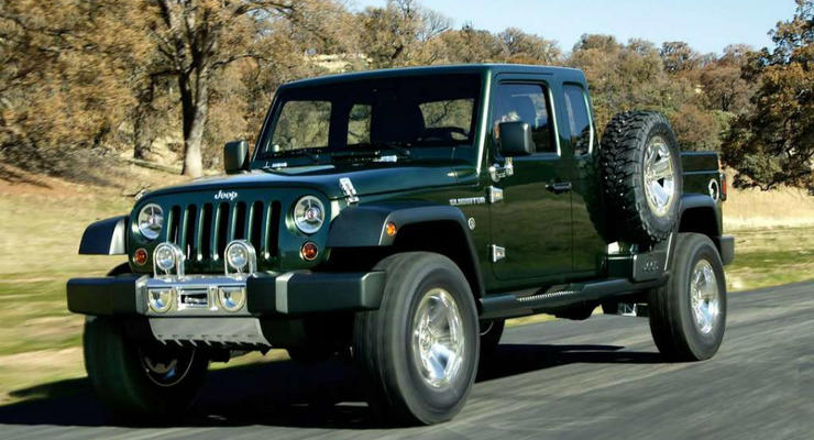 Jeep приступит к выпуску пикапа на базе Wrangler