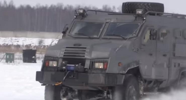 В Украине испытали новый броневик