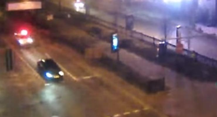 Появилось новое видео ночной погони в Киеве