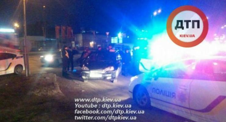 Киевские копы гонялись за автомобилем, совершившим ДТП