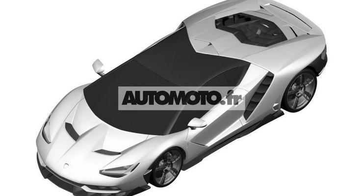 Дизайн спорткара Lamborghini Centenario показали до премьеры