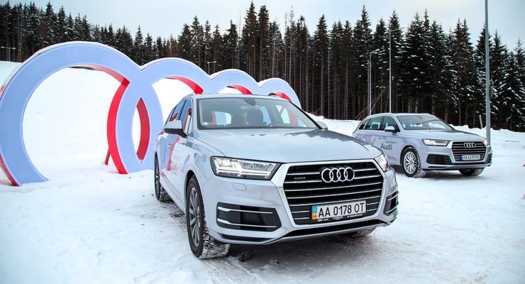Audi устроила тест модели Q7 в Буковеле