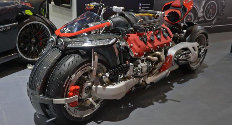 В Женеве показали байк с двигателем от Maserati