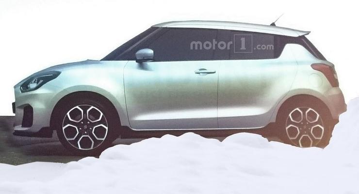 Опубликованы первое фото нового Suzuki Swift