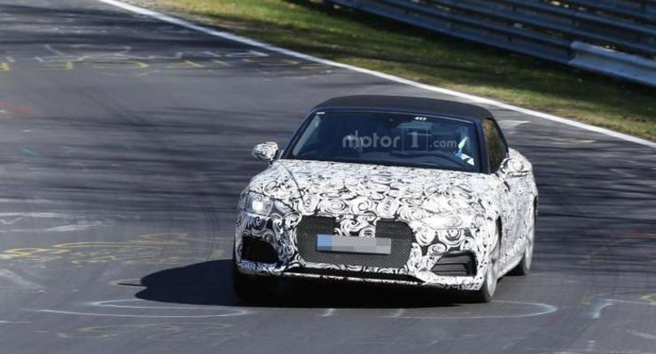 Кабриолет Audi S5 заметили на Нюрбургринге
