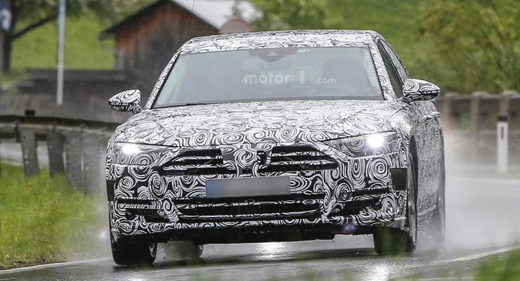 Audi A8 нового поколения вывели на дорожные тесты