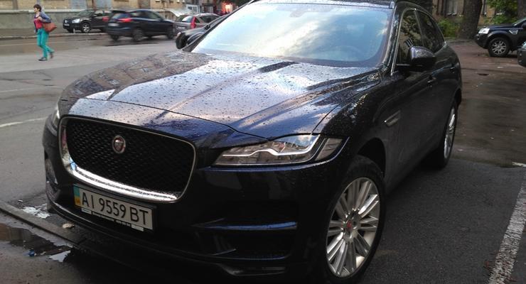 Первый в СНГ кроссовер Jaguar заметили на дорогах Киева