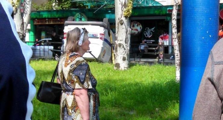"""В Донецке перевернулось авто """"полиции"""" террористов"""