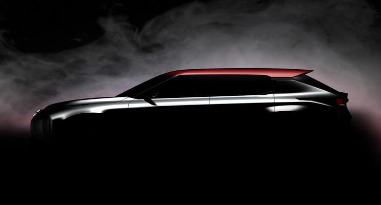 Компания Mitsubishi показала первый снимок нового кроссовера