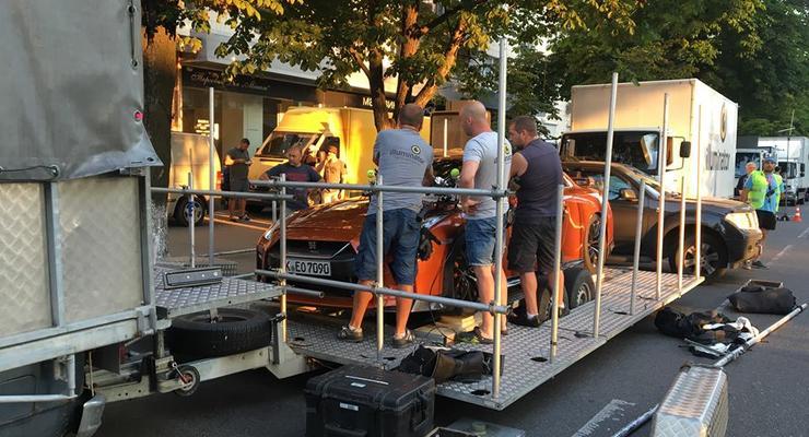 В Киеве снимали рекламу нового Nissan GT-R