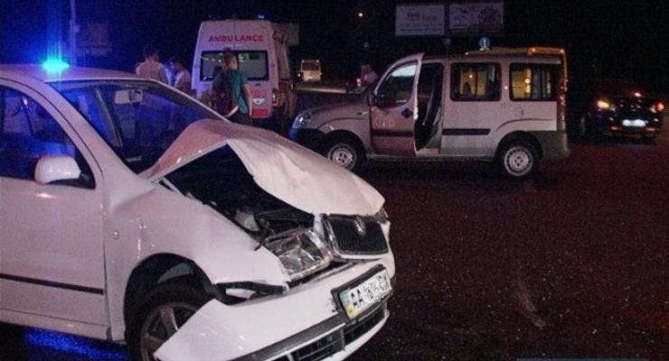 В Киеве журналист пострадал в аварии