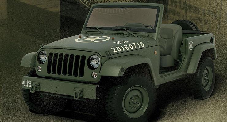 Jeep показал прототип Wrangler в стиле первого Willys