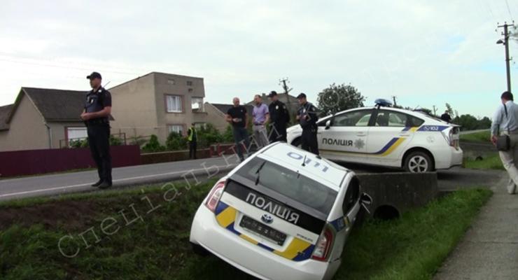 На Закарпатье полицейские попали в ДТП из-за коров
