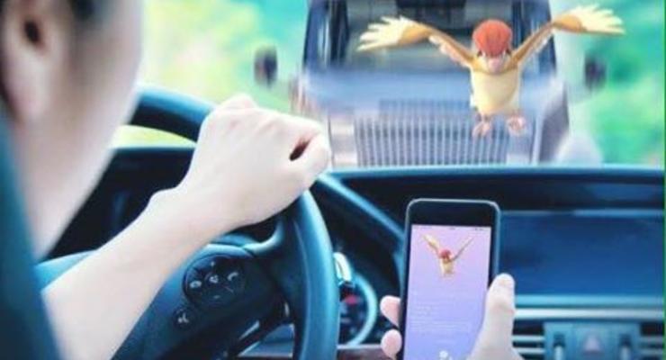 В Украине выписали первый штраф водителю за Pokemon Go