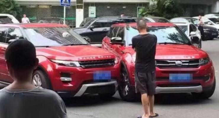 В Китае Evoque столкнулся со своим местным клоном