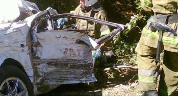 На Днепропетровщине Chevrolet столкнулся с грузовиком: есть жертвы