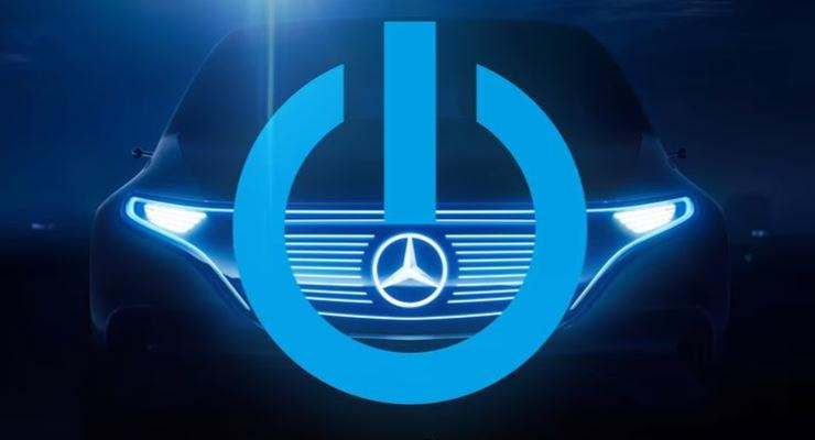 Mercedes представил тизер электрического кроссовера