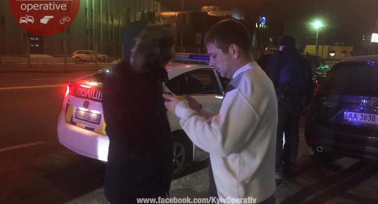 В Киеве полиция с погоней задержала пьяных СБУшников