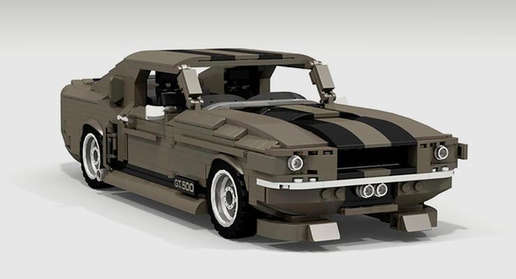 """Фанат фильма """"Угнать за 60 секунд"""" собрал из Lego Shelby GT 500 Mustang"""